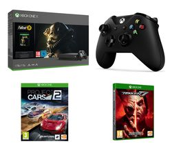 MICROSOFT Xbox One X, Fallout 76, Project Cars 2, Tekken 7, Wireless Controller & Xbox LIVE Gold Membership Bundle
