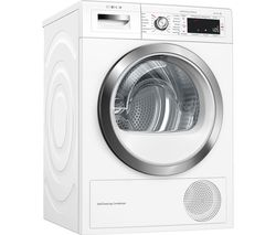 BOSCH Serie 8 WTWH7561GB Smart 9 kg Heat Pump Tumble Dryer - White