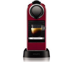 NESPRESSO by Krups CitiZ XN741540 Coffee Machine - Red