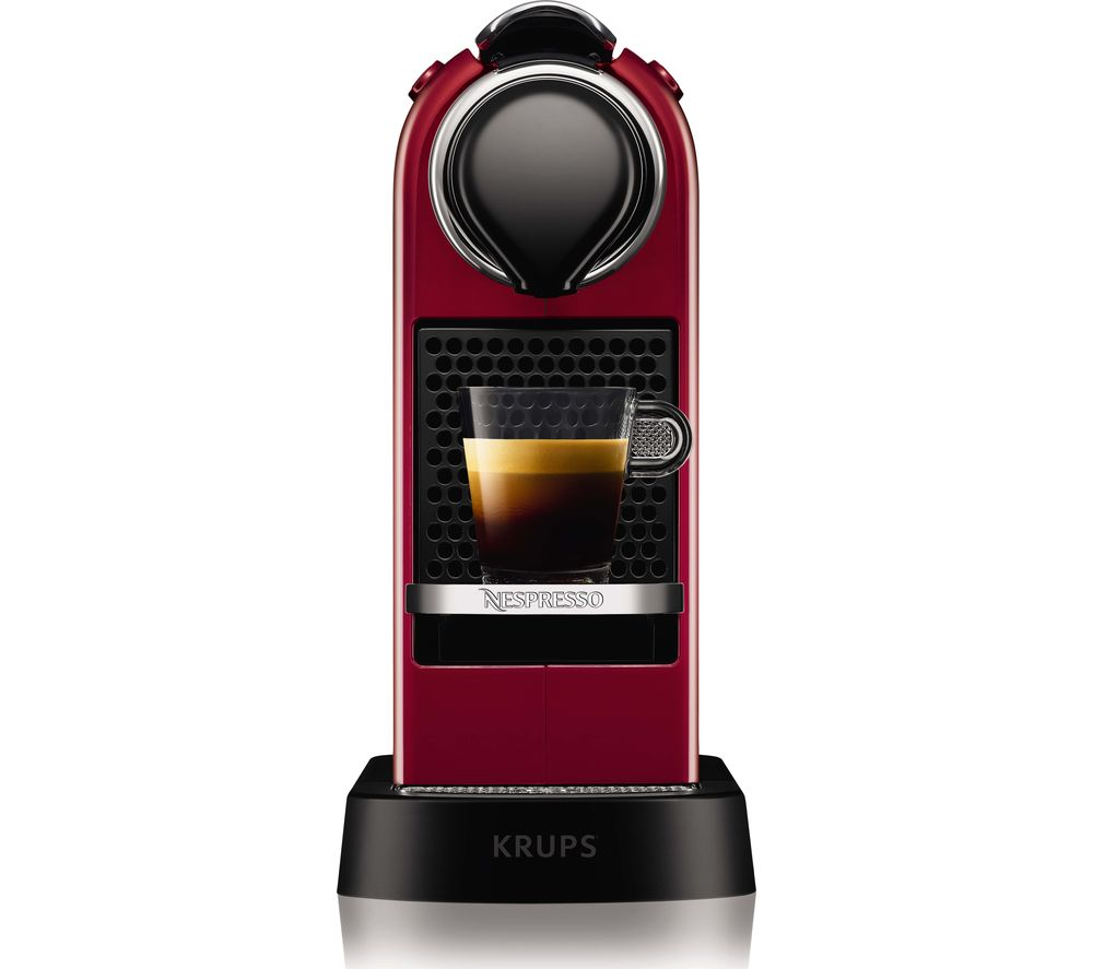 Image of by Krups CitiZ XN741540 Coffee Machine - Red, Red