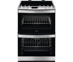 CCB6760ACM 60 cm Electric Ceramic Cooker - Stainless Steel & Black