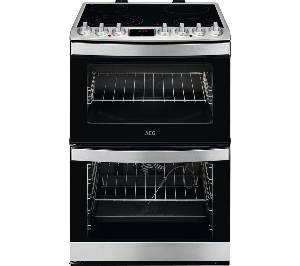 Aeg Ccb6760acm 60 Cm Electric Ceramic Cooker Stainless Steel Black Stainless Steel