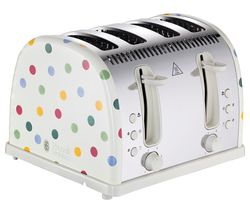 Emma Bridgewater Polka Dot 4-Slice Toaster - Cream