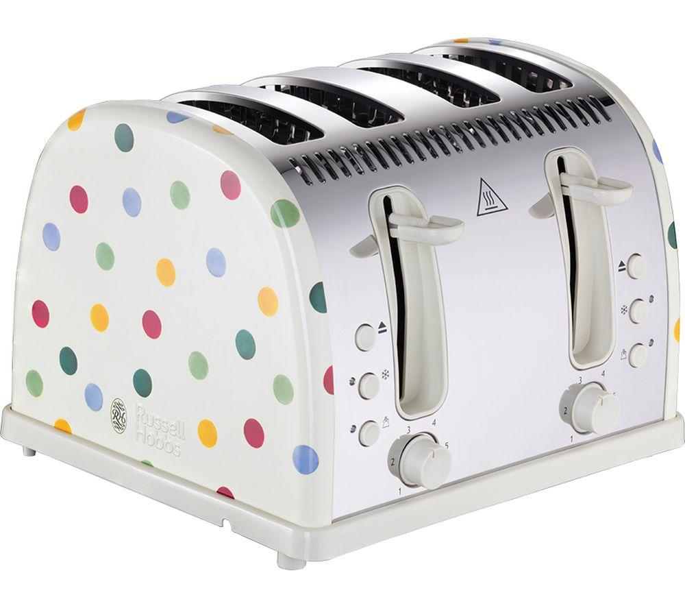 RUSSELL HOBBS Emma Bridgewater Polka Dot 4-Slice Toaster - Cream