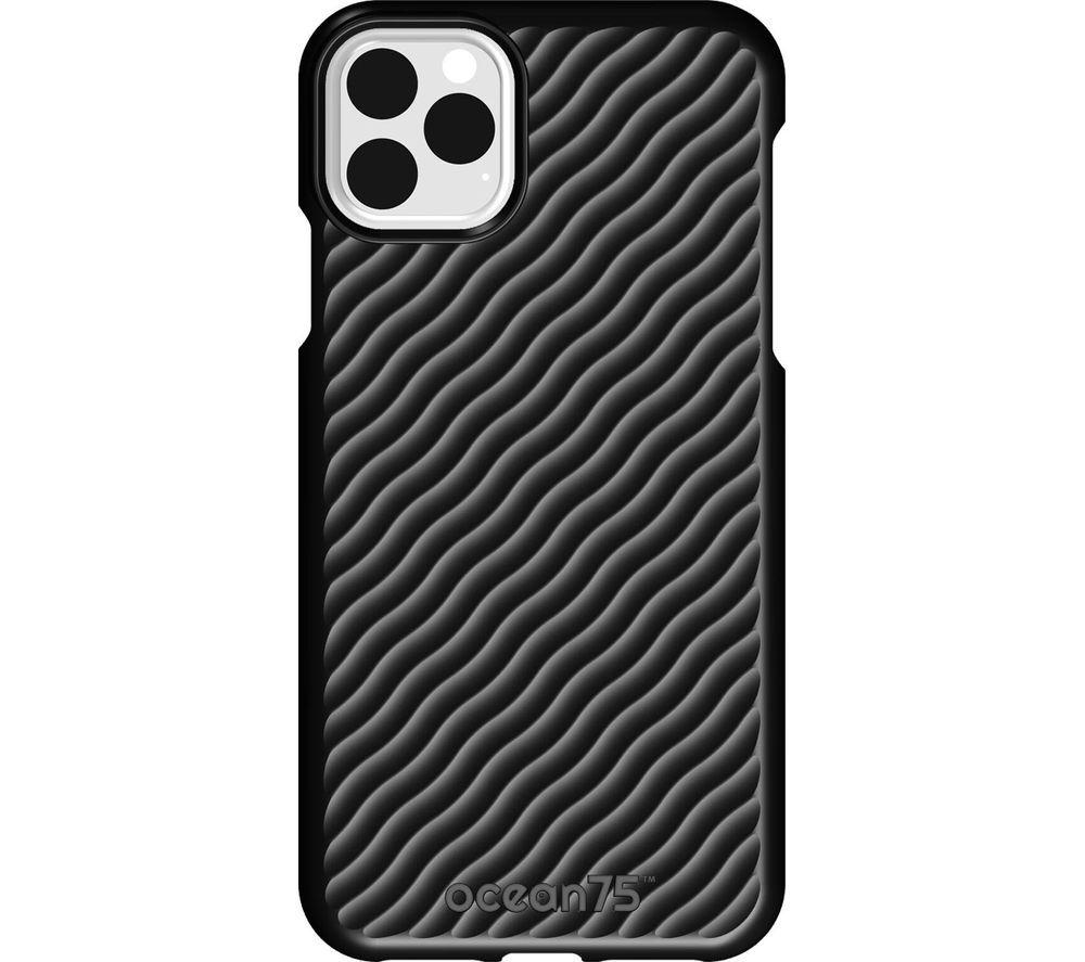Image of Ocean Wave iPhone 11 Pro Max Case - Deep Black, Black