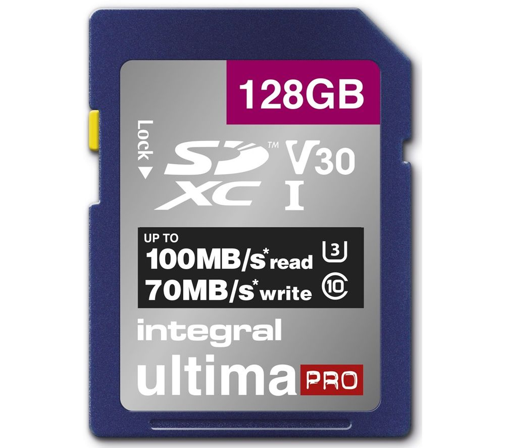 INTEGRAL V30 Class 10 SD Memory Card - 128 GB