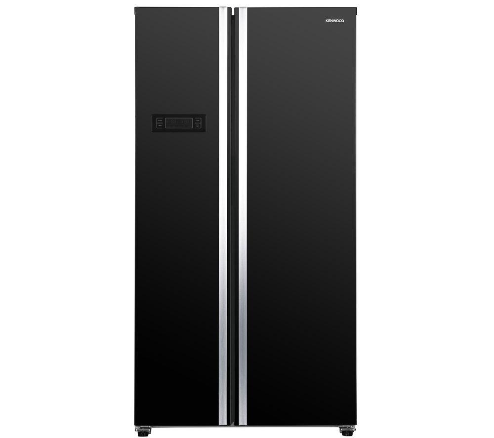 KENWOOD KSBSB20 American-Style Fridge Freezer - Black, Black