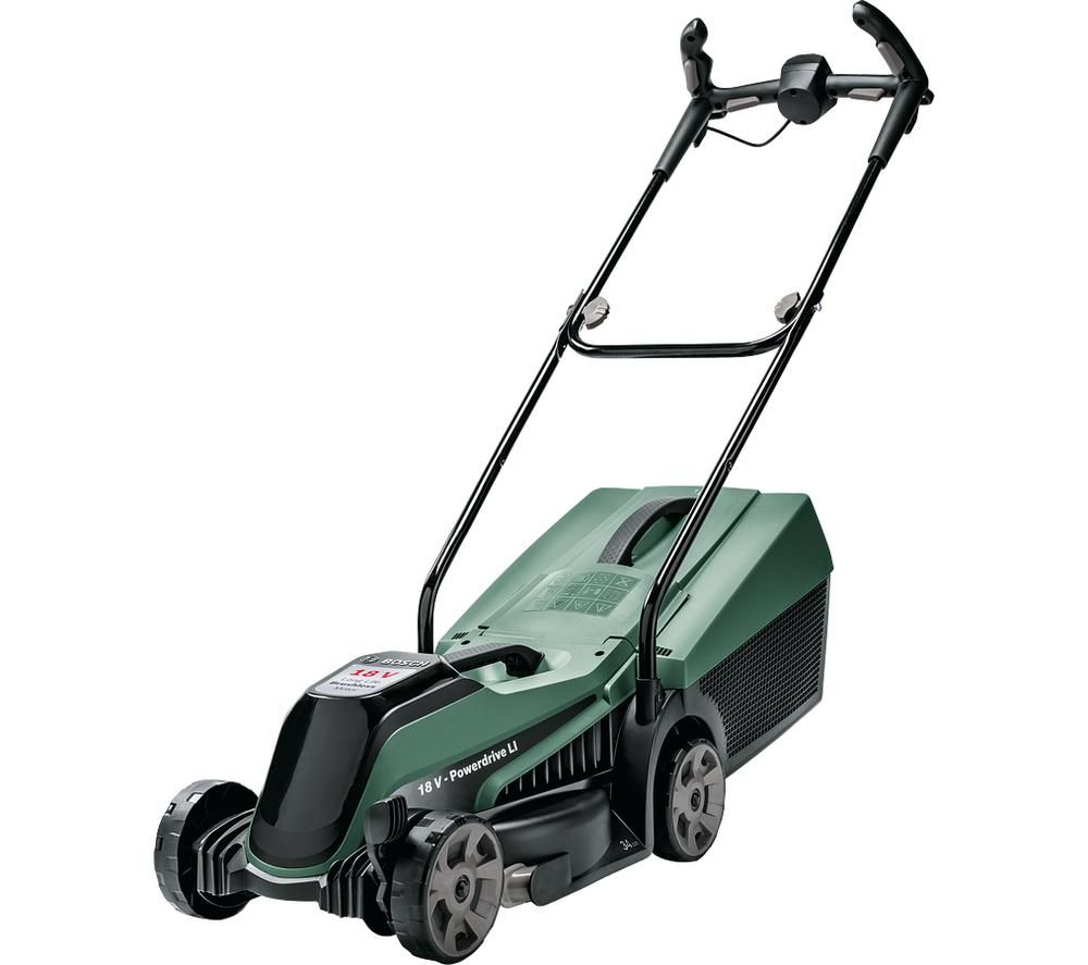 BOSCH CityMower 18 Cordless Rotary Lawn Mower - Green & Black
