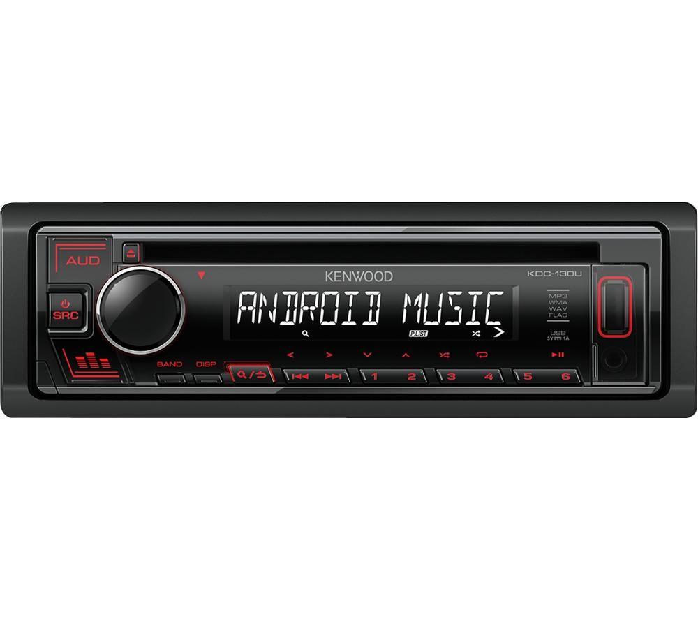KENWOOD KDC 130UR CD Car Receiver - Black