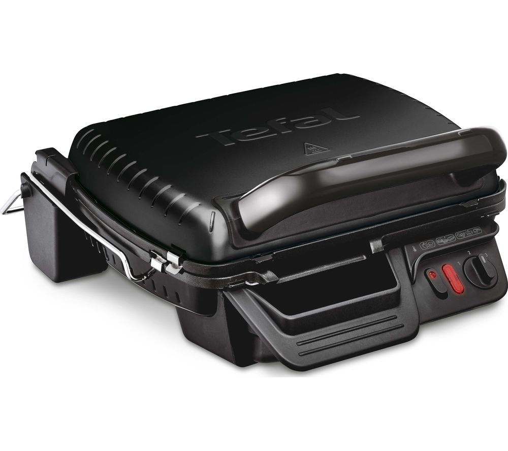 TEFAL Ultracompact 3-in-1 GC308840 Health Grill - Black