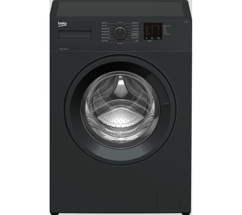 BEKO WTK74011A 7 kg 1400 Spin Washing Machine - Anthracite