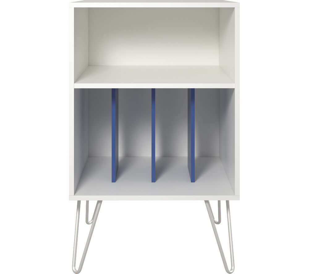 DOREL HOME Concord Turntable Stand - White & Blue