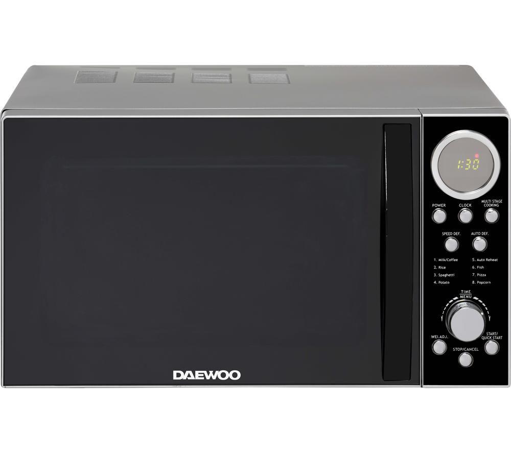 DAEWOO SDA2087GE Solo Microwave - Black & Silver, Black