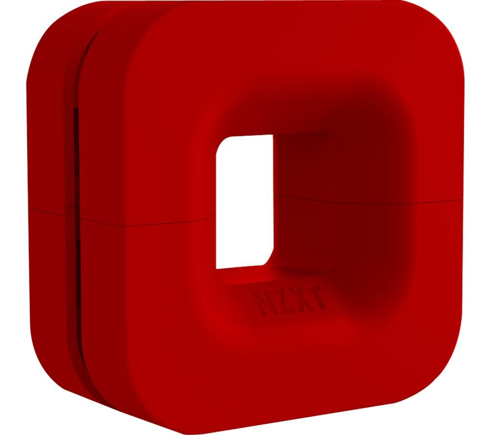 Image of NZXT Puck Cable Management & Headset Mount - Red, Red