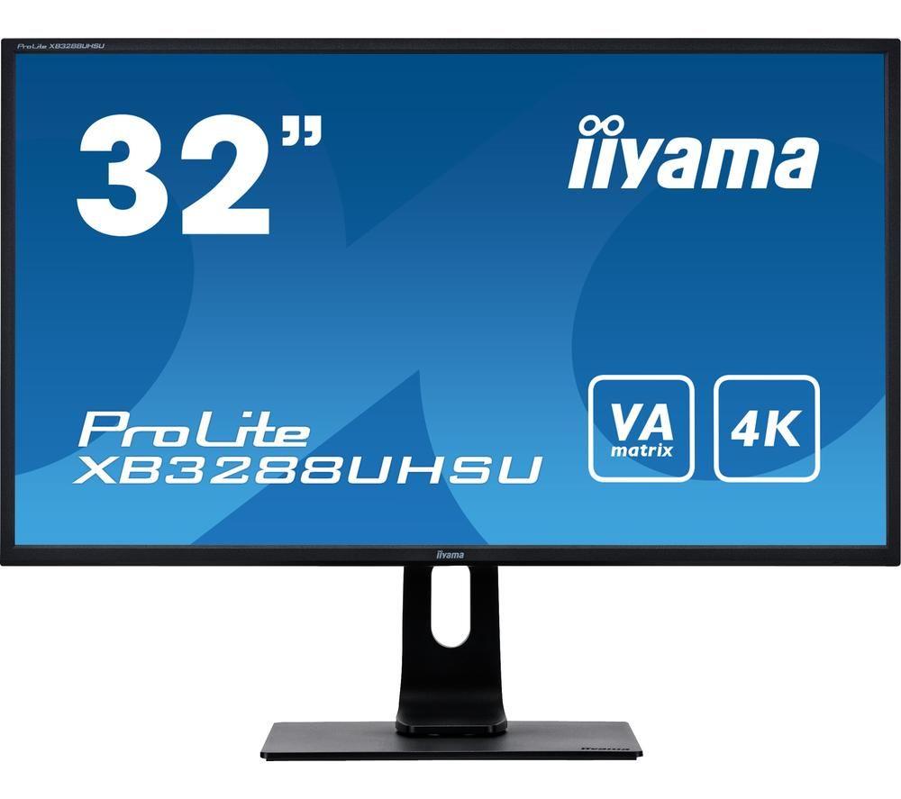 """IIYAMA ProLite XB3288UHSU-B1 4K Ultra HD 32"""" VA LED Monitor - Black"""