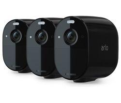 Essential Spotlight VMC2030B-100EUS Full HD WiFi Security Camera - Black, Pack of 3