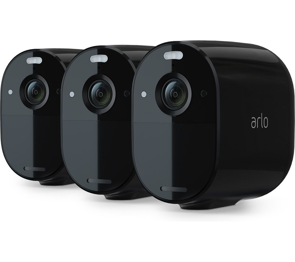 ARLO Essential Spotlight VMC2030B-100EUS Full HD WiFi Security Camera - Black, Pack of 3