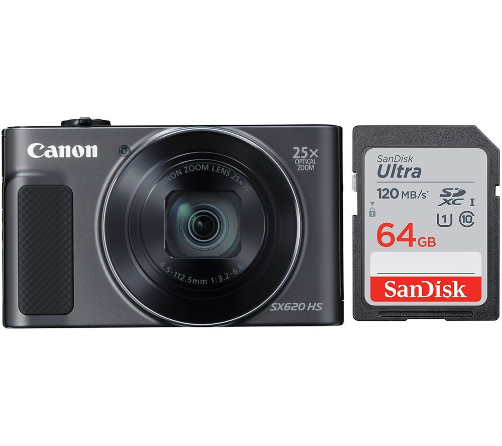 Click to view product details and reviews for Canon Powershot Sx620 Hs Compact Camera 64 Gb Memory Card Bundle Black Black.