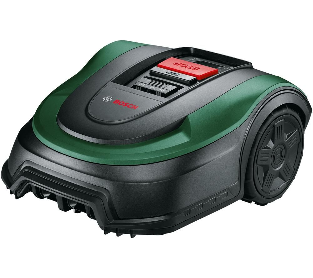 BOSCH Indego XS 300 Cordless Robot Lawn Mower - Black & Green, Black
