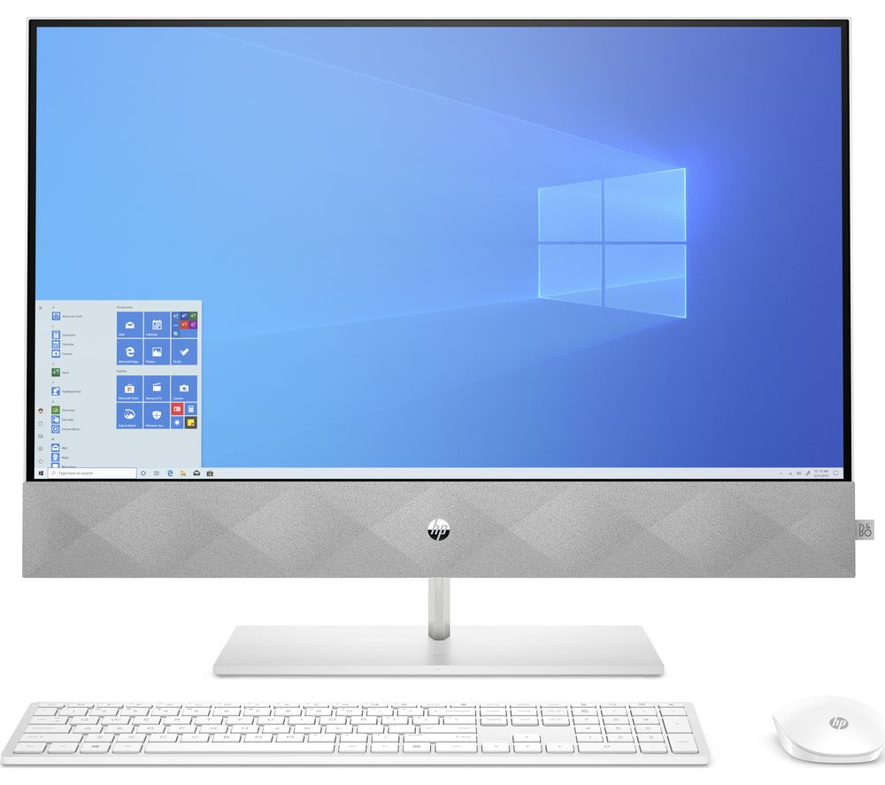 """Image of HP Pavilion 27-d1021na 27"""" All-in-One PC - Intel® Core™ i7, 1 TB SSD, White"""