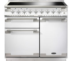 RANGEMASTER Elise 100 Induction Range Cooker - White & Chrome