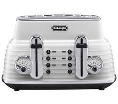 DELONGHI Scultura CTZ4003W 4-Slice Toaster- White