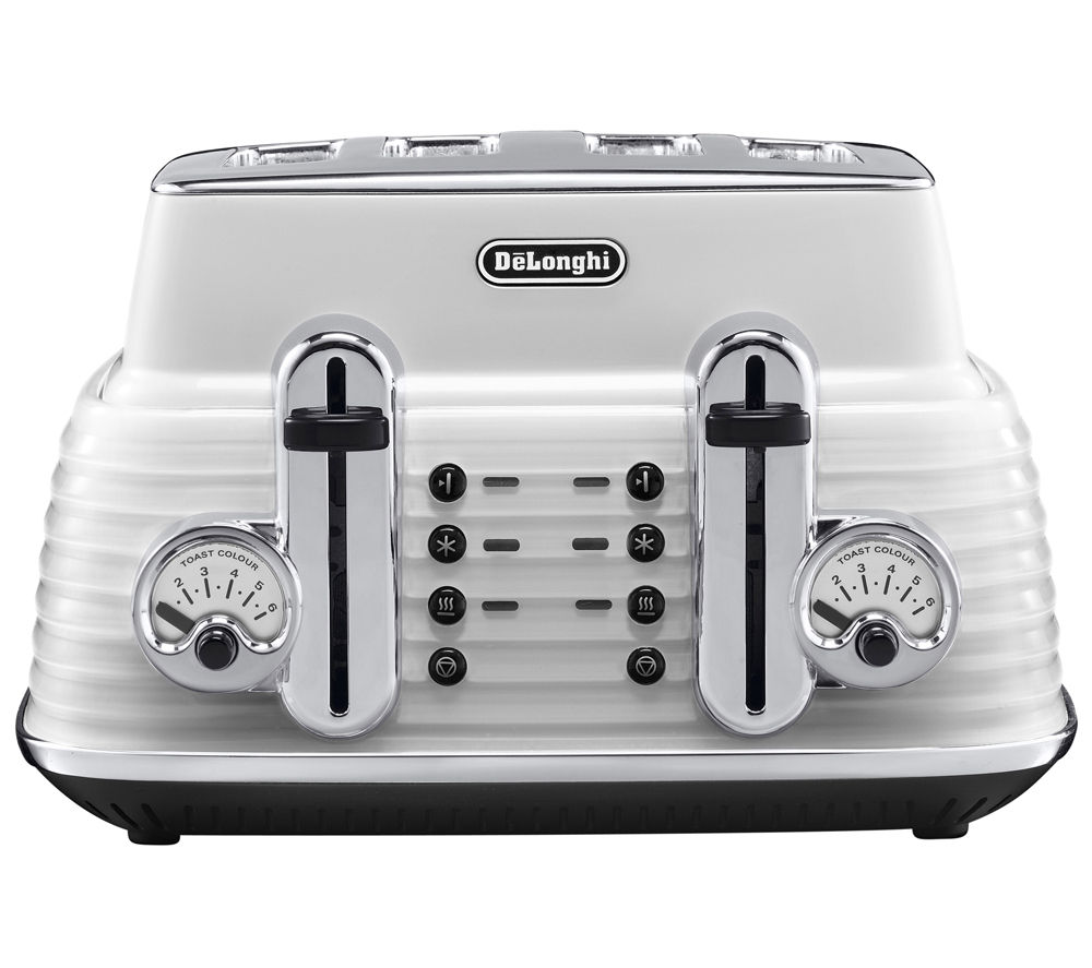 Compare retail prices of Delonghi CTZ4003W Scultura Delonghi Toaster- White White to get the best deal online