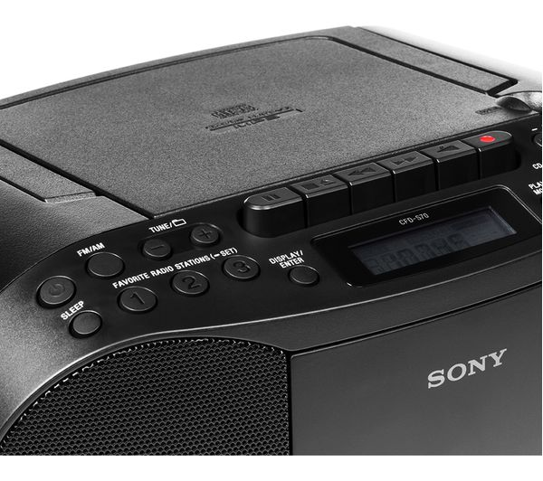 Buy Sony Cfd S70 Fm Am Boombox Black Free Delivery