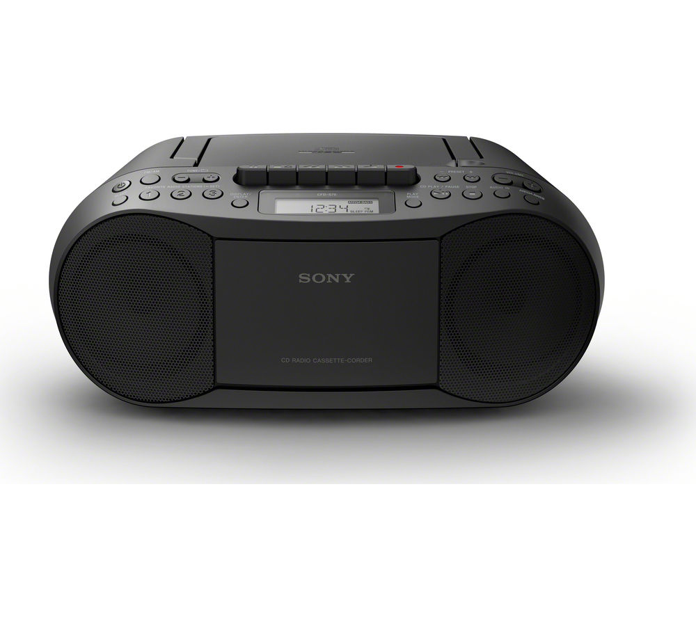 SONY CFD-S70 FM/AM Boombox - Black