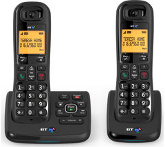 XD56 Cordless Phone with Answering Machine - Twin Handsets