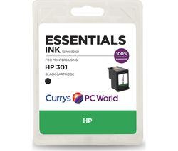 ESSENTIALS 301 Black HP Ink Cartridge