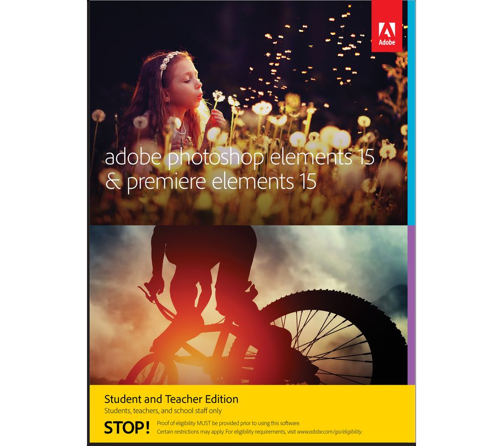 Compare retail prices of Adobe Photoshop Elements 15 with Premiere Elements 15 Student and Teacher Edition to get the best deal online