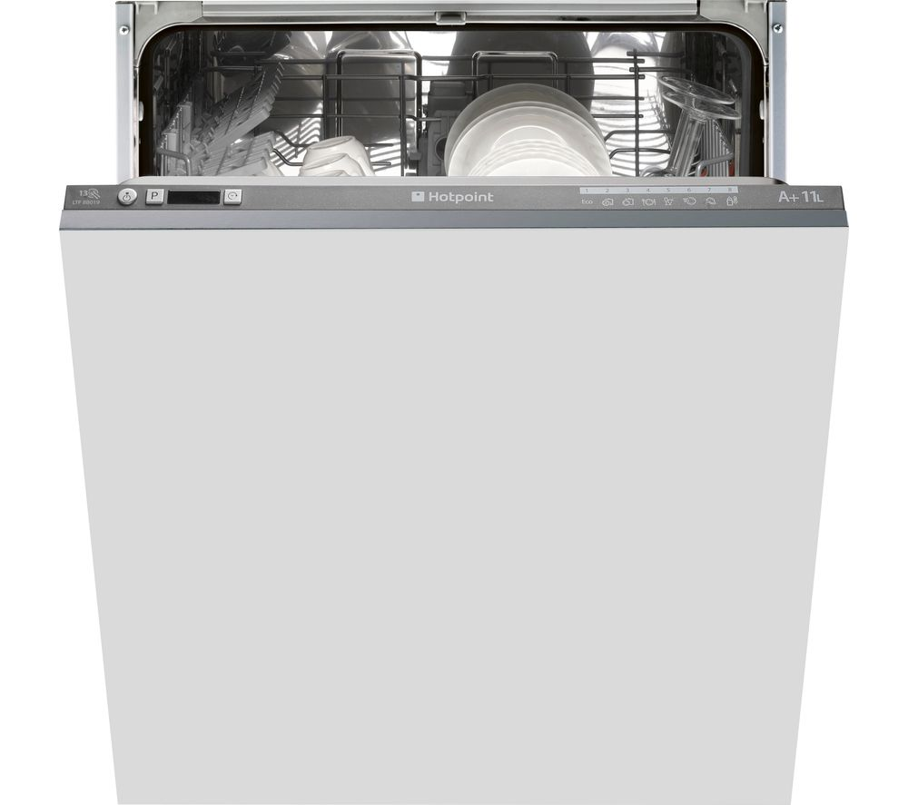 HOTPOINT LTF 8B019 Full-size Integrated Dishwasher, Graphite