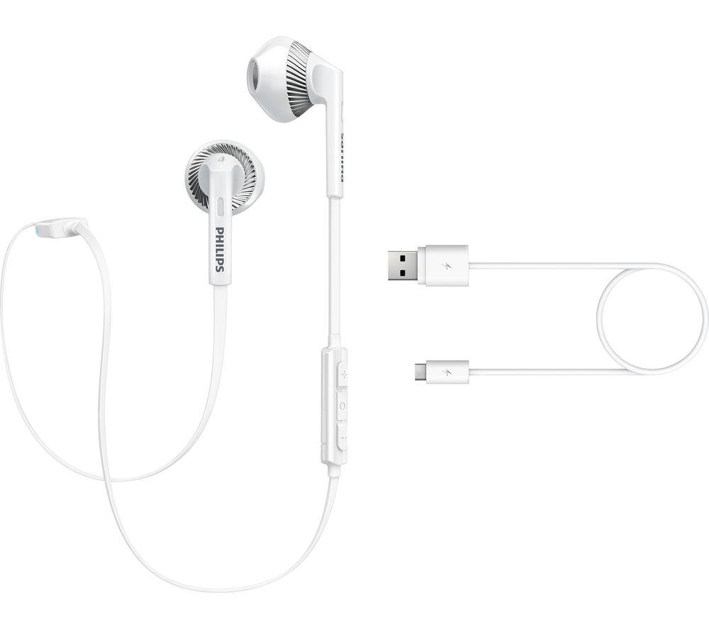 PHILIPS SHB525OWT Wireless Bluetooth Headphones - White