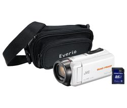 JVC GZ-R435 Camcorder, Bag & 32 GB SD Card Kit - White