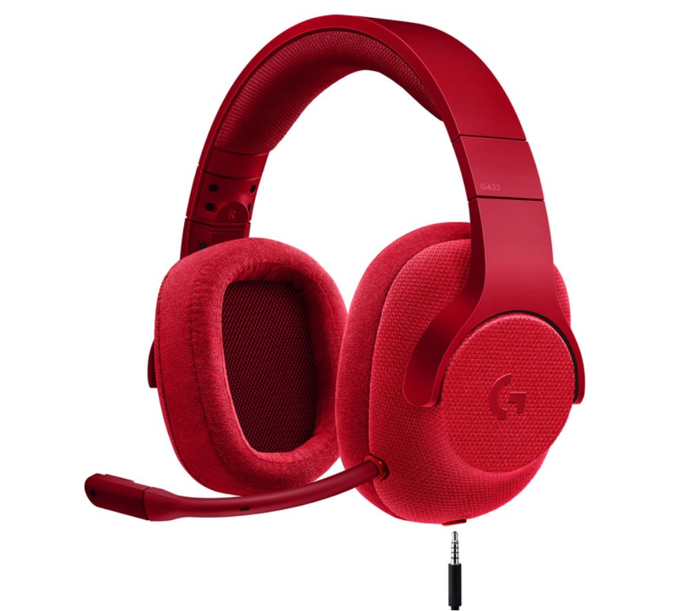 LOGITECH G433 7.1 Gaming Headset - Red