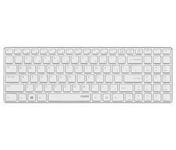 RAPOO E9110 Wireless Keyboard - White