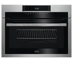 AEG KME721000M Built-in Microwave with Grill - Black & Stainless Steel