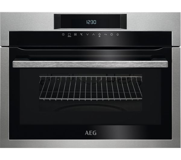Image of AEG KME721000M Built-in Microwave with Grill - Black & Stainless Steel