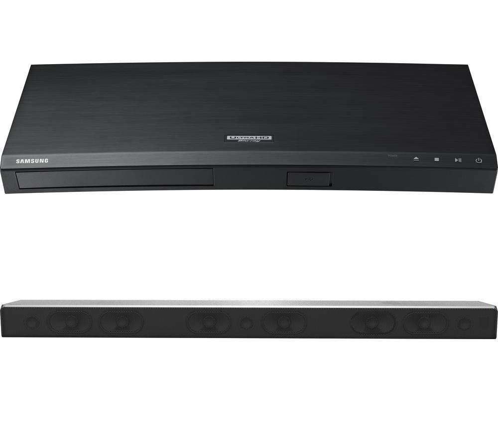 SAMSUNG HW-MS750 5.1 All-in-One Sound Bar & 4K Ultra HD Blu-ray Player Bundle