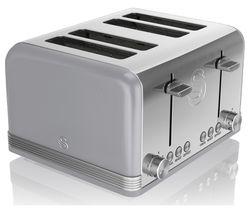 SWAN Retro ST19020GRN 4-Slice Toaster - Grey