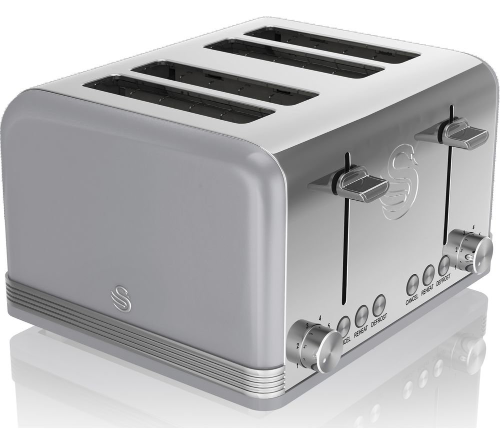 SWAN Retro ST19020GRN 4-Slice Toaster - Grey
