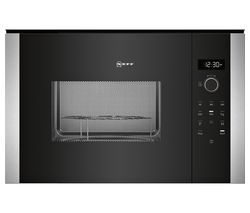 NEFF HLAGD53N0B Built-in Microwave with Grill - Black
