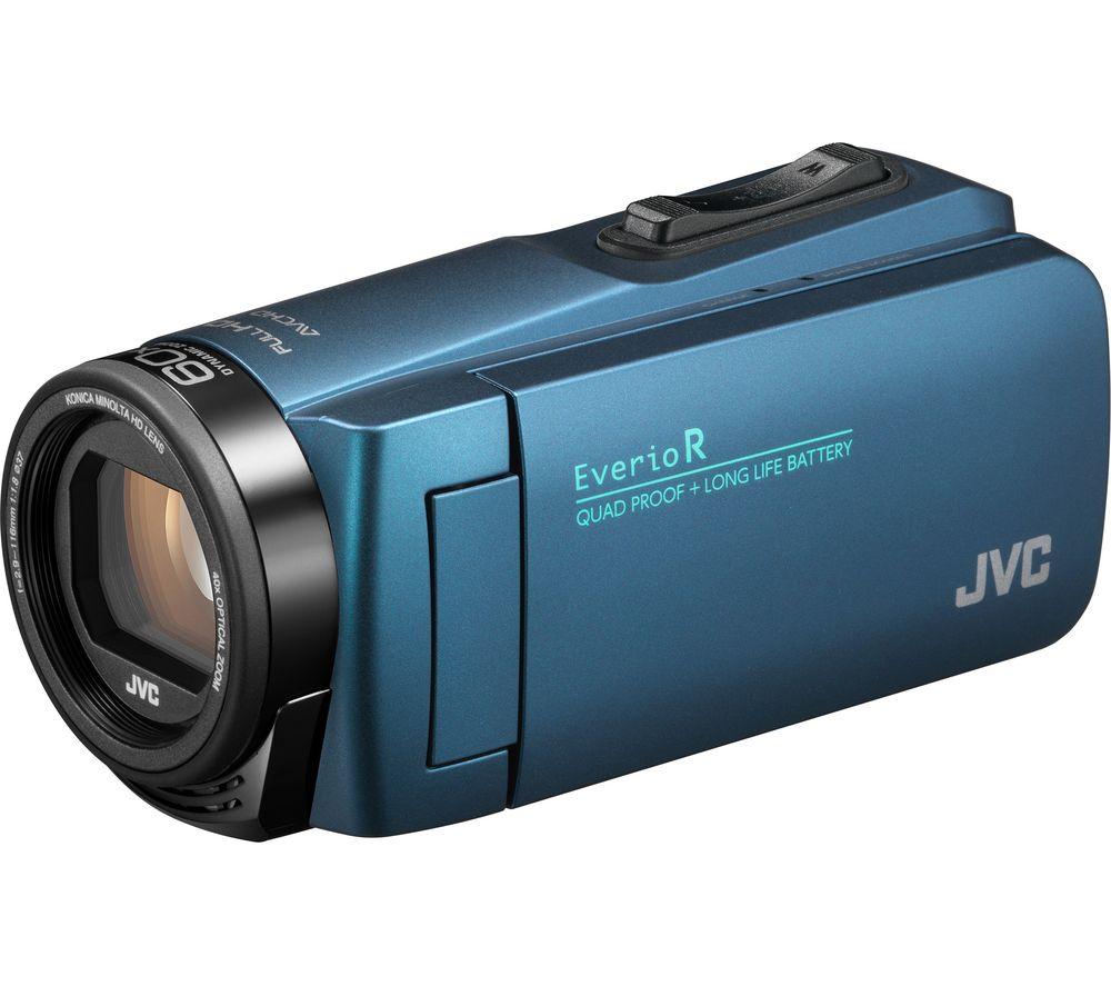JVC GZ-R495AEK Camcorder – Blue, Blue