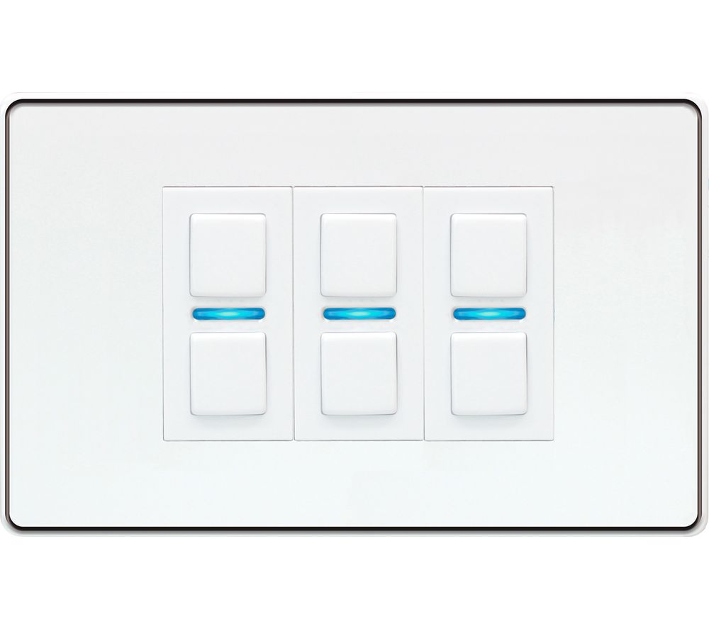 Image of LIGHTWAVE Smart Series 3 Gang Dimmer Switch - White, White