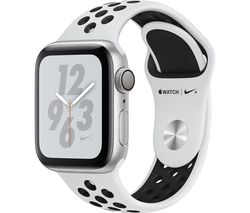APPLE Watch Nike+ Series 4 - Silver & Platinum Sports Band, 40 mm