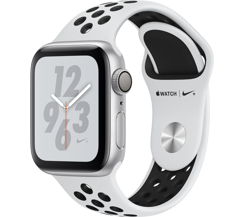 Buy APPLE Watch Nike+ Series 4 - Silver & Platinum Sports