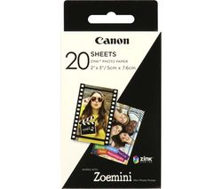 """CANON ZINK 2 x 3"""" Glossy Photo Paper - 20 Sheets"""