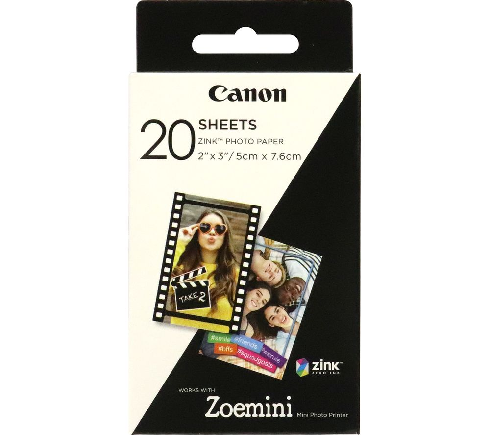 "CANON Zoemini 2 x 3"" Glossy Photo Paper - 20 Sheets"