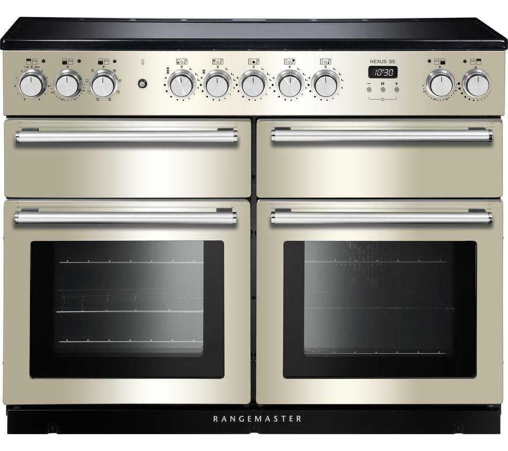 RANGEMASTER Nexus SE NEXSE110EIIV/C 110 cm Electric Induction Range Cooker - Ivory & Chrome